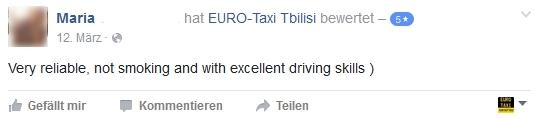 Euro Taxi Tbilisi Feedback