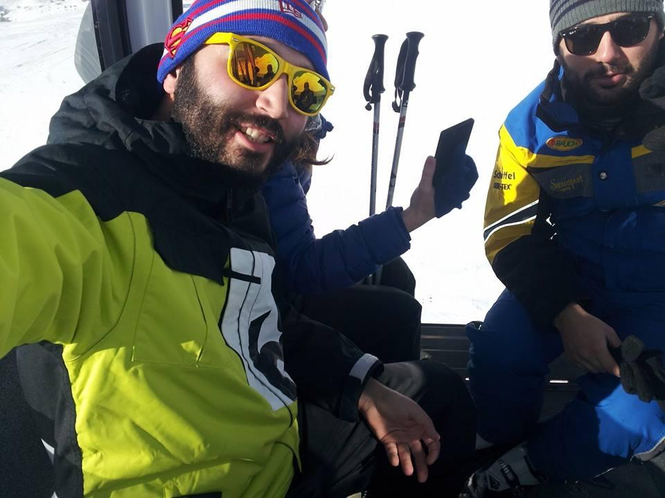 Skiing with Giorgi